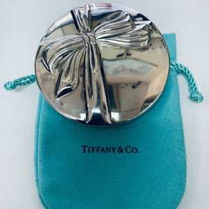 Tiffany & Co. Silverplate Bow Mirror